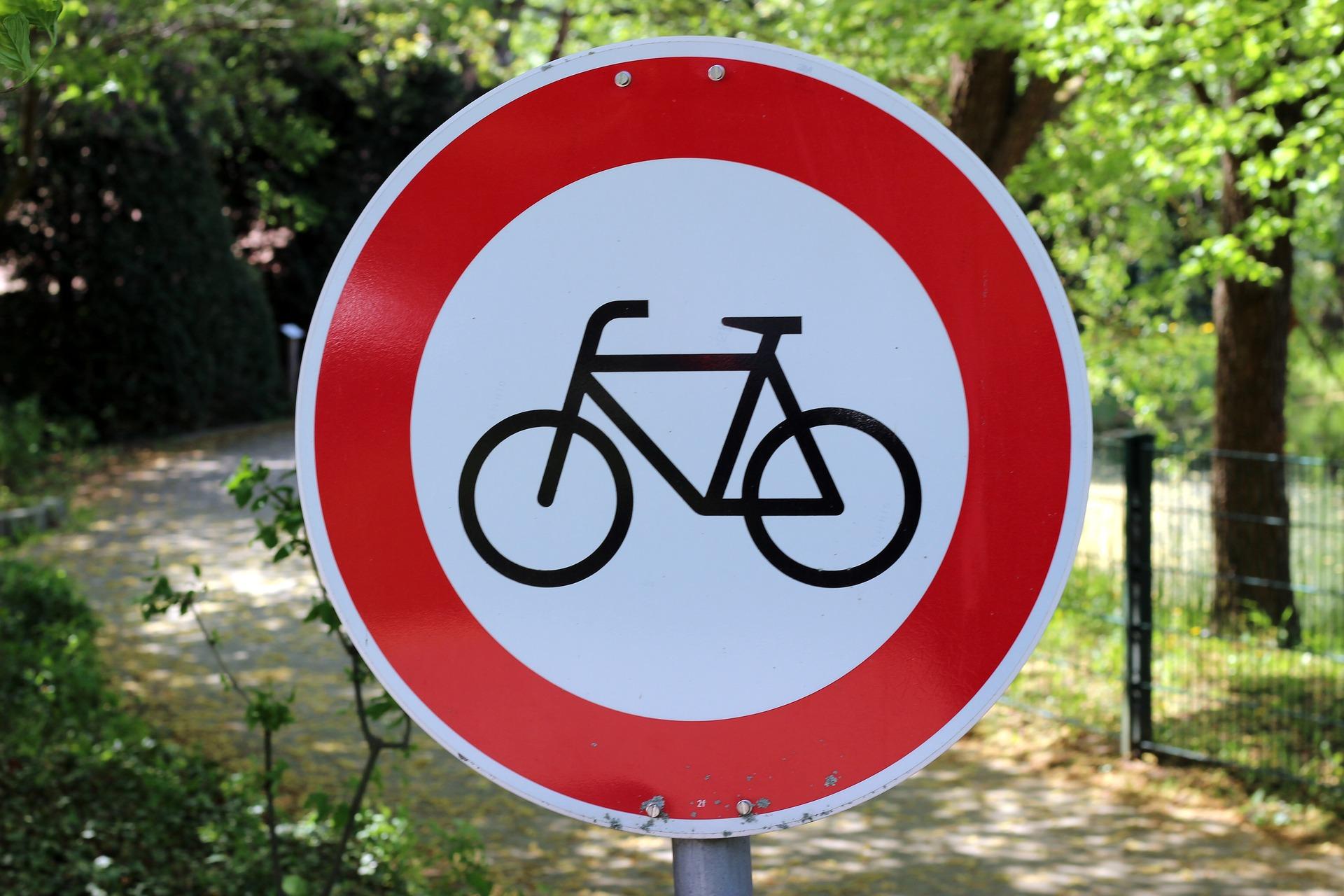 Znak drogowy - ścieżka rowerowa